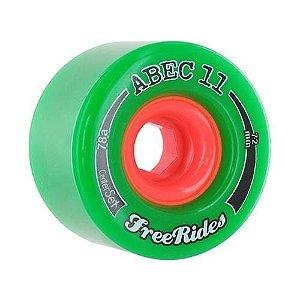 Roda Abec 11 Freerides Classic Centerset 72mm 78A Verde