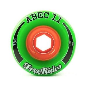 Roda Abec 11 Freerides Classic 66mm 78A Verde