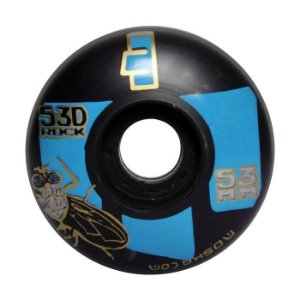 Roda Moska 53mm Rock Preta e Azul
