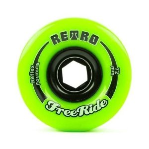 Roda Abec 11 Freeride Retro Reflex 72mm 80A Lime