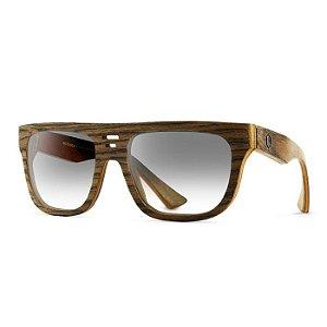Óculos de Madeira Notiluca Cazu Marrom Zebrado