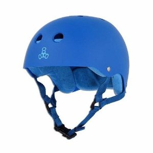 Capacete Triple 8 Brainsaver Royal Blue Rubber