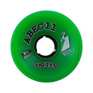 Roda Abec 11 Zig Zag Classic 70mm 81A Verde