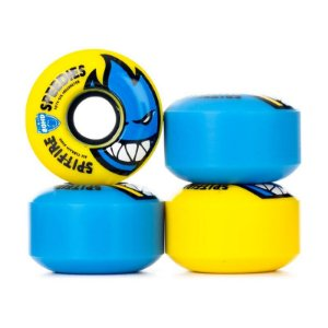Roda Spitfire Speedies Beach Mashup 54mm 80A Amarela Azul