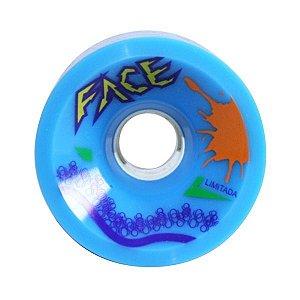 Roda Face Skate Speed 73mm 80a Azul - Edição Limitada