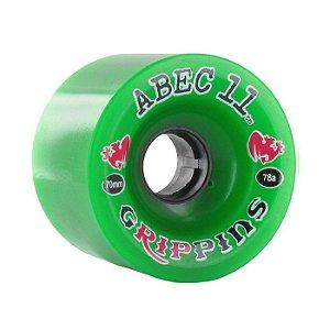 Roda Abec 11 Grippins 70mm 78A Verde
