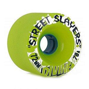 Roda Divine Street Slayers 72mm 78a Verde