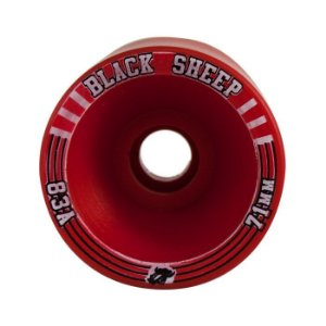 Roda Black Sheep Longboard 71mm 83a Offset Vermelha