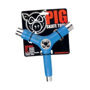 Chave Multifuncional Tri-Socket Pig Azul
