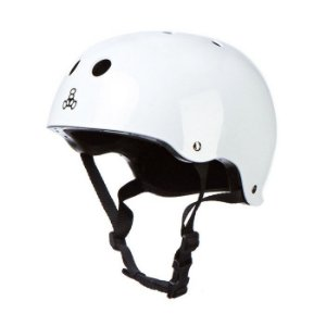 Capacete Triple 8 Brainsaver White Gloss