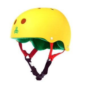 Capacete Triple 8 Brainsaver Rasta Yellow