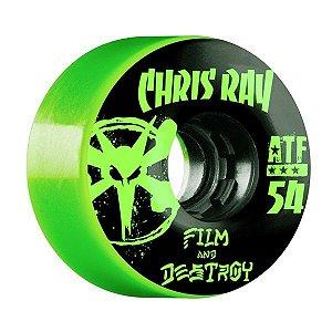 Roda Bones Atf Filmer Ray Destroy 54mm 80a Verde