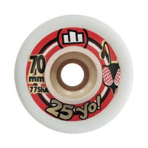 Roda Moska 25yo Downhill Slide 70mm 77A Branca