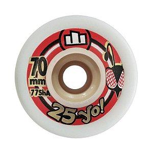 Roda Moska 25yo Downhill Slide 70mm 77A Branca