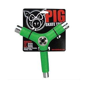 Chave Multifuncional Tri-Socket Pig Verde