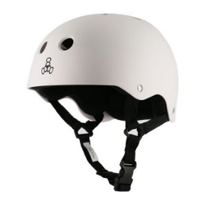 Capacete Triple 8 Brainsaver White Rubber