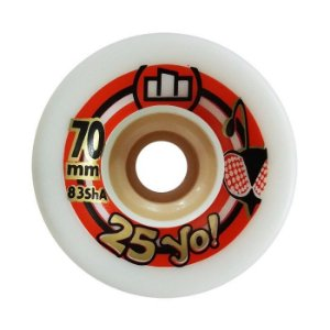Roda Moska 25yo Speed 70mm 83A Branca