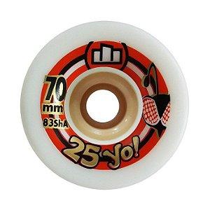 Roda Moska 25yo Speed 70mm 83A Branca