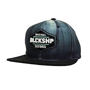 Boné Black Sheep Snapback Aba Reta Azul Preto