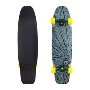 Longboard Completo Black Sheep Tribal com Roda Moska 9.0 x 40