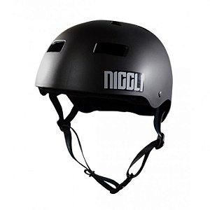 Capacete Profissional Niggli Pads Iron Preto Fosco