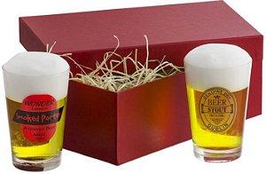 Kit Cerveja 2 copos Caldereta - PERSONALIZADO