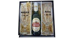 Kit cerveja duas taças Floripa e Cerveja-PERSONALIZADO