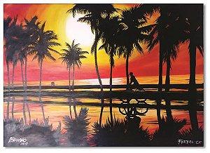 Pintura original em óleo - Bicicletar 61 x 85 cm