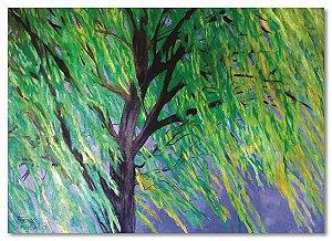 Pintura original em óleo - Árvore 61 x 85 cm