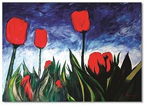 Pintura original em óleo - Flores 61 x 85 cm