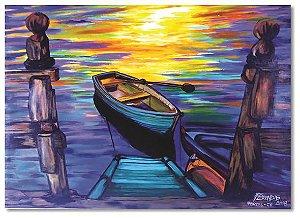 Quadro original, pintado a mão - 61 x 85 cm
