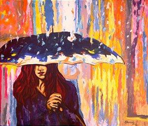 Bonito quadro decorativo pintado a mão, original