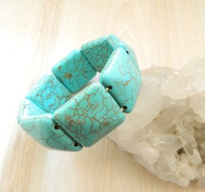 Pulseira Pedra Azul turquesa