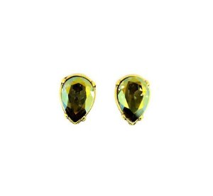 Brinco Armazem RR Bijoux gota swarovski ouro velho