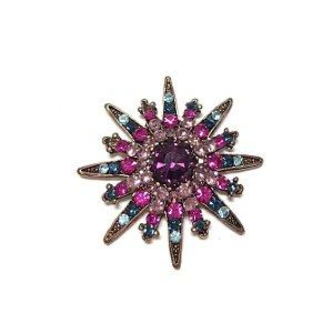 Broche Armazem RR Bijoux rosa e azul