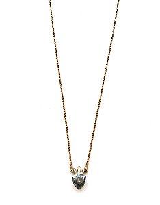 Colar Armazem RR Bijoux coroa cristal swarovski azul