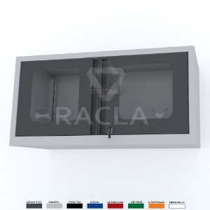 ARMÁRIO INDUSTRIAL MODULAR SUSPENSO 1000X500X350MM BRA-0410A FLEX BRACLAY