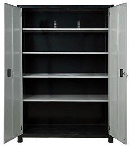 Armário industrial para ferramentas c/ 04 prateleiras e porta em aço ORK-021