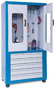 Armário industrial para ferramentas c/ 05 gavetas e painel perfurado ARM-022/019 CMB