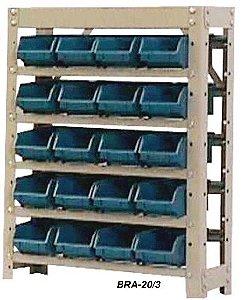 Estante Para Caixa Bin Porta Componentes Para Gavetas n.3 Braclay