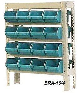 Estante Para Caixa Bin Porta Componentes Para Gavetas n.4 Braclay
