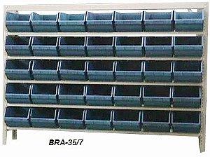 Estante Para Caixa Bin Porta componentes Gavetas n.7 BRA-35-7 Braclay