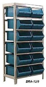 Estante Para Caixa Bin porta Componentes Gavetas n.8 Bra-12/8 Braclay