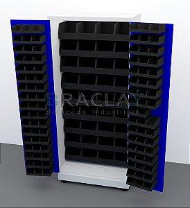 Armário Industrial porta componentes para caixas Bin  nº.3 e 7 BRA-294CB Braclay