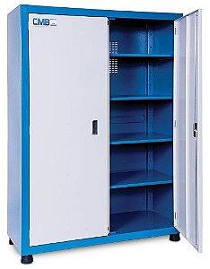 Armário industrial para ferramentas c/ 04 prateleiras porta em aço 150 / ARM-001 CMB