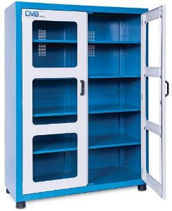 Armário industrial para ferramentas c/04 prateleiras, visor em acrílico ou vidro CMB-10A/CMB-10V (ARM-006) CMB