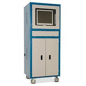Rack Industrial Para Computador Porta com Visor de Vidro RPCV03 CMB