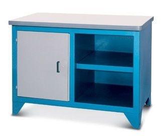 Bancada industrial para serviços c/ 01 porta e prateleira 217CF1 CMB