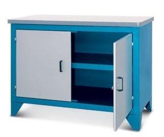 Bancada industrial para serviços c/ 02 portas e prateleira interna 217CF2 CMB