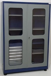 Armário Industrial P/ Ferramentas com 05 gavetas, Porta Acrílico BRA-2121GA Braclay
